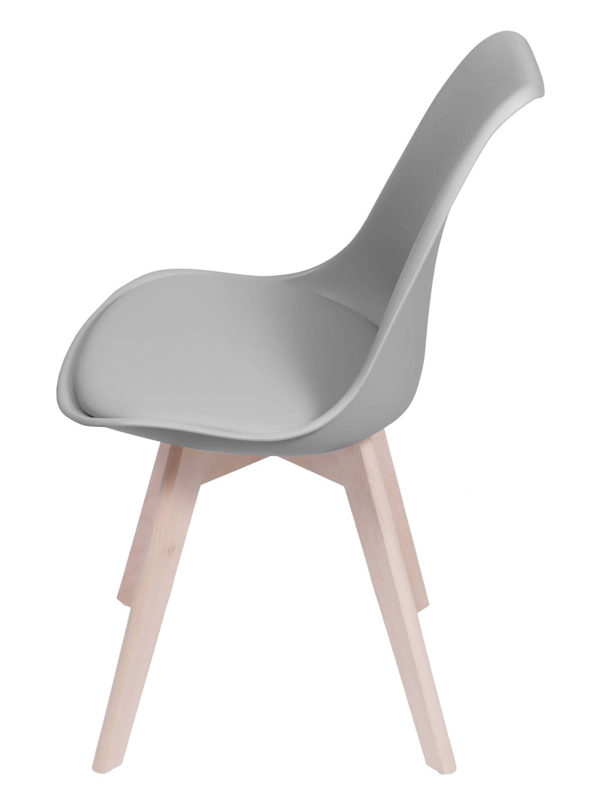 Cadeira Saarinen Cinza Base Madeira - 53446