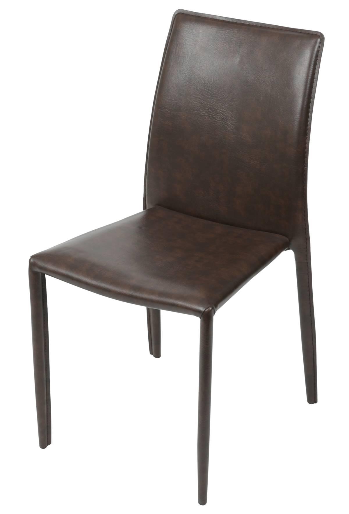Cadeira Bali Estofada Couro Ecologico Retro - 51308