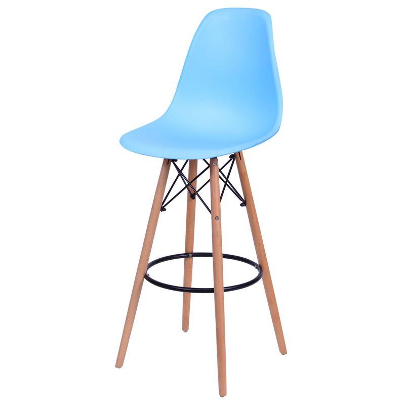Banqueta-Eames-Polipropileno-Azul-Claro-Base-Madeira---54747