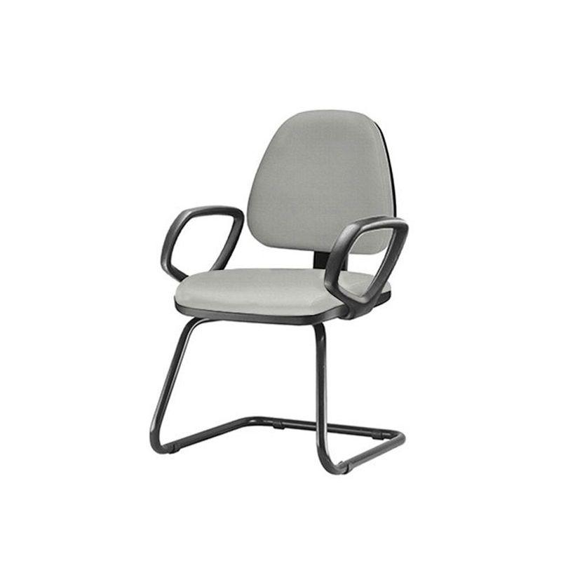 Cadeira-Sky-com-Bracos-Fixos-Assento-Crepe-Cinza-Claro-Base-Fixa-Preta---54829