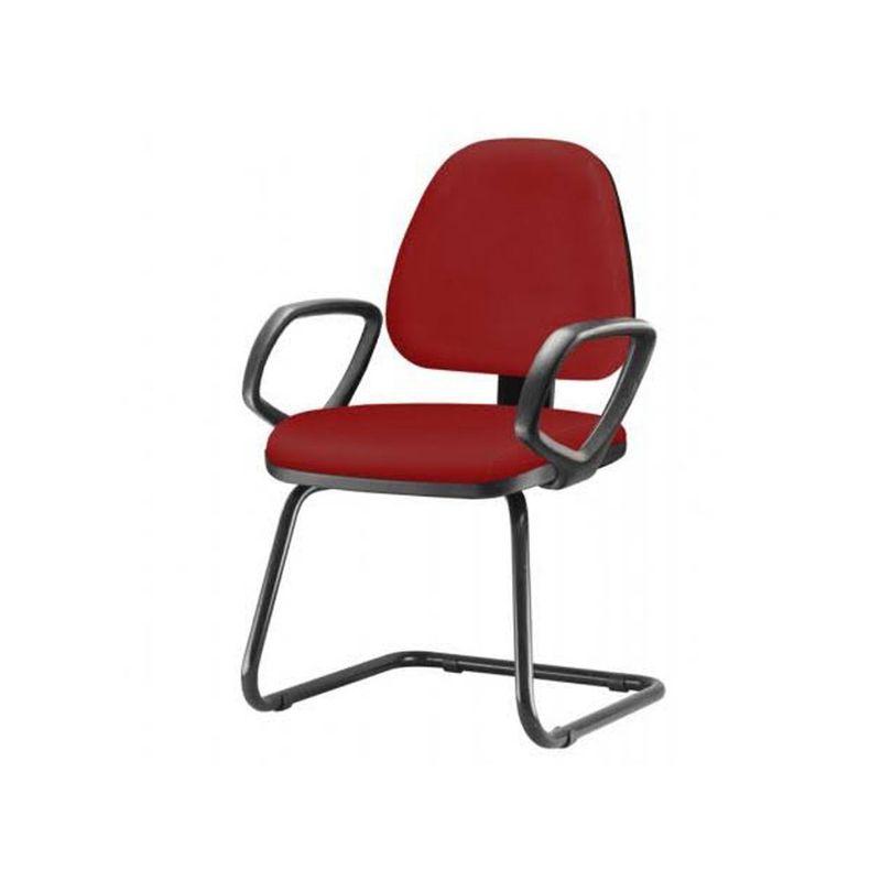 Cadeira-Sky-com-Bracos-Fixos-Assento-Crepe-Vermelho-Base-Fixa-Preta---54827