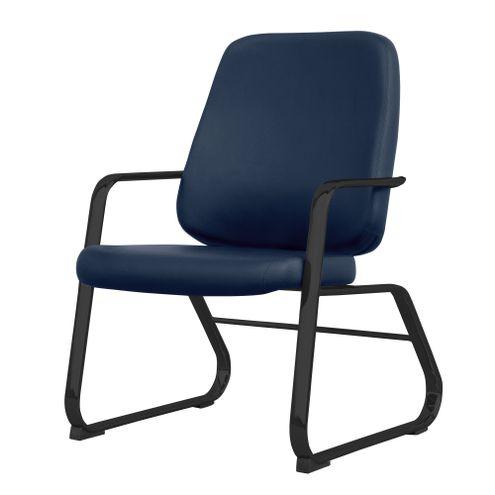Cadeira-Maxxer-Diretor-Assento-Courino-Azul-Base-Fixa-Preta---54854