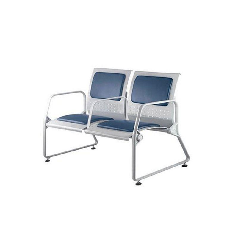 Longarina-Loop-com-3-Bracos-e-2-Lugares-Assento-Azul-Estrutura-Metalica---54901-