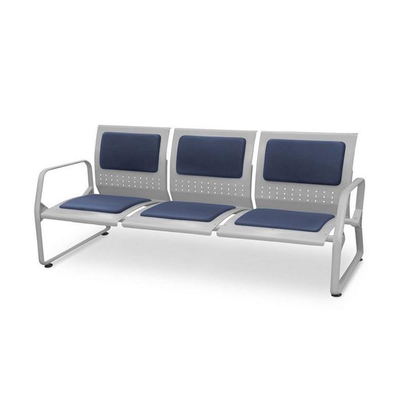 Longarina-Loop-com-2-Bracos-e-3-Lugares-Assento-Azul-Estrutura-Metalica---54903