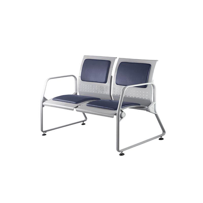 Longarina-Loop-com-2-Bracos-e-2-Lugares-Assento-Azul-Estrutura-Metalica---54892-