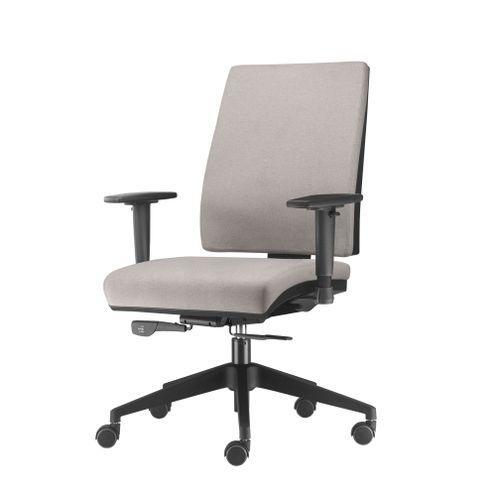 Cadeira-Simple-Presidente-com-Braco-em-Courino-Assento-Crepe-Cinza-Claro-Base-Nylon-Piramidal---54915