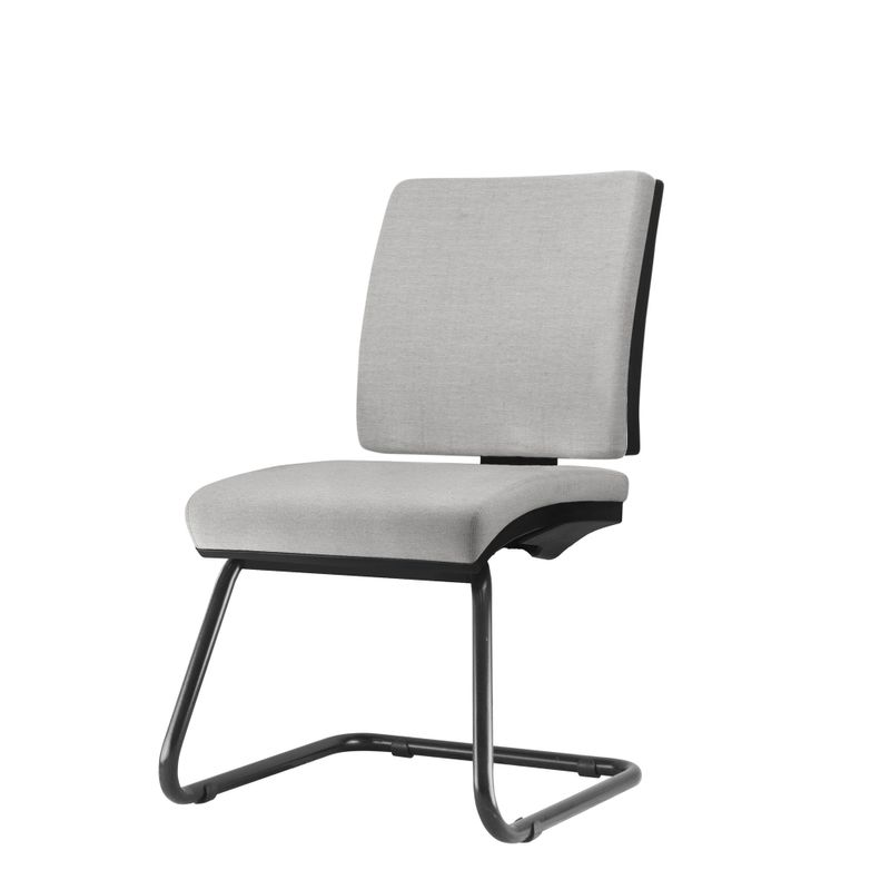 Cadeira-Simple-Assento-Courino-Cinza-Claro-Base-Fixa-Preta---54970