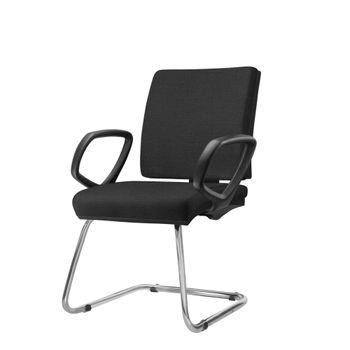Cadeira-Simple-com-Braco-Fixo-Assento-Courino-Preto-Base-Fixa-Cromada---54972-