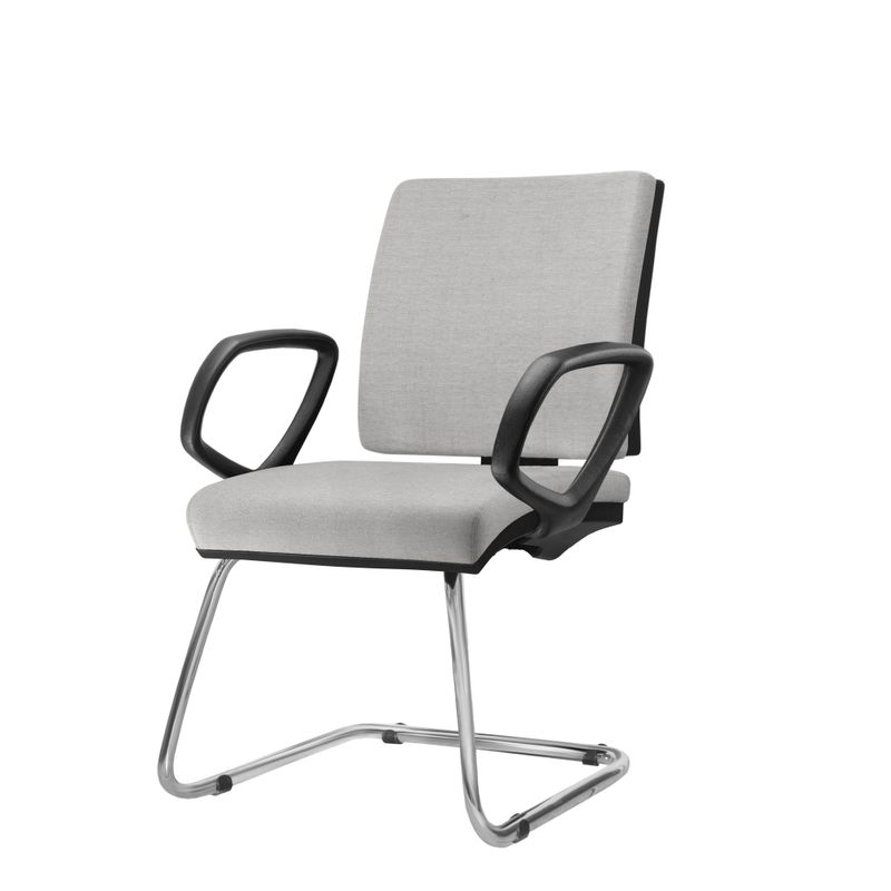 Cadeira-Simple-com-Braco-Fixo-Assento-Courino-Cinza-Claro-Base-Fixa-Cromada---54974