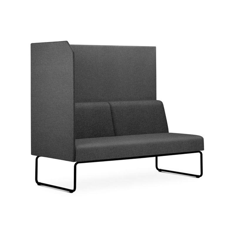 Sofa-Privativo-Pix-com-Lateral-Direita-Aberta-Assento-Mescla-Cinza-Escuro-Base-Aco-Preto---54979