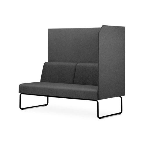 Sofa-Privativo-Pix-com-Lateral-Esquerda-Aberta-Assento-Mescla-Cinza-Escuro-Base-Aco-Preto---54986