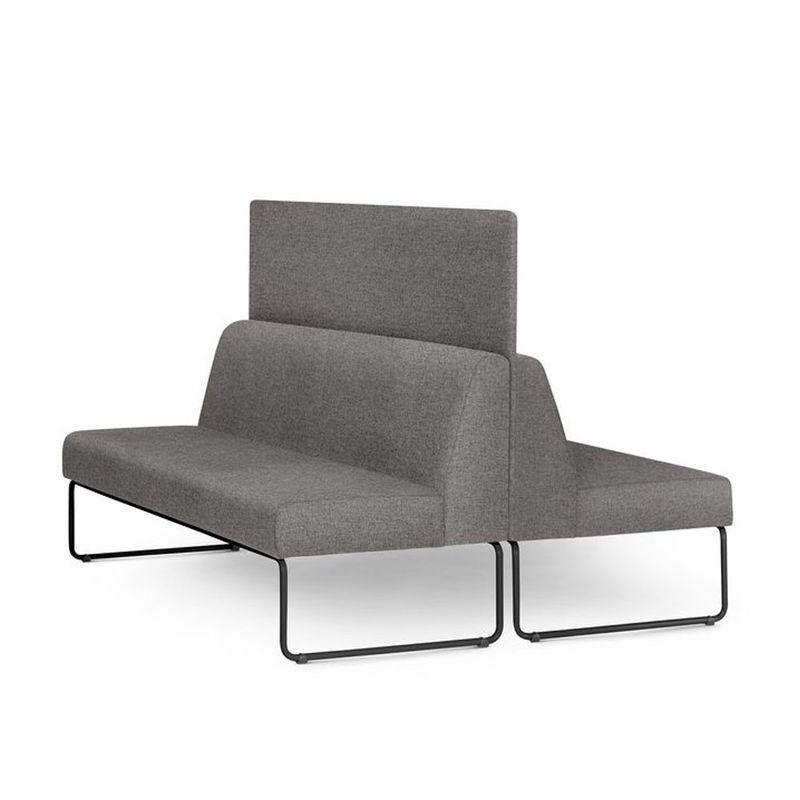 Sofa-Pix-com-2-Unidades-e-Painel-Divisor-Assento-Mescla-Cinza-Base-Aco-Preto---55072