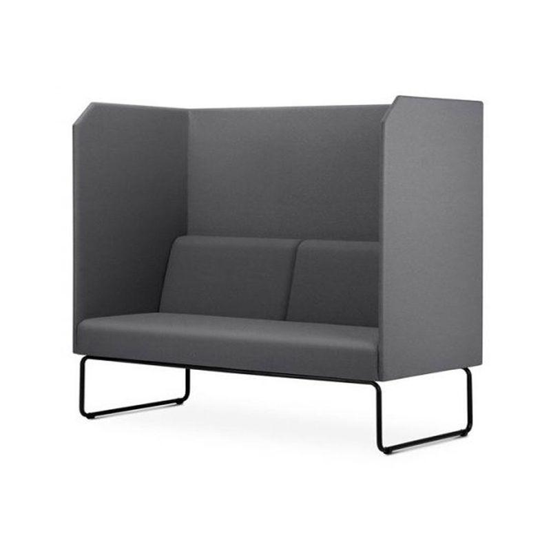 Sofa-Privativo-Pix-com-Divisoria-e-Assento-Crepe-Cinza-Base-Aco-Preto---55081-