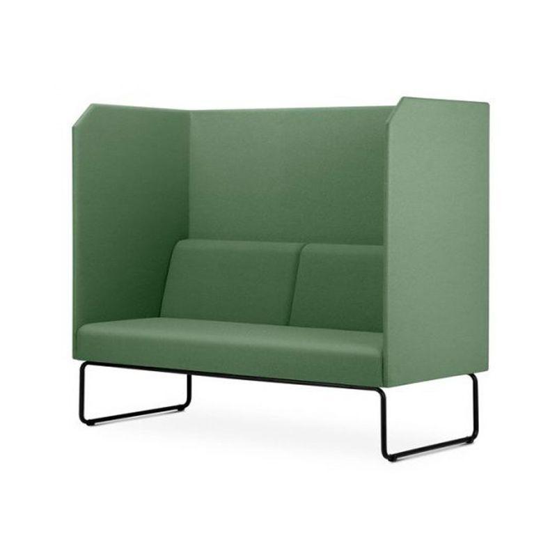 Sofa-Privativo-Pix-com-Divisoria-e-Assento-Crepe-Verde-Escuro-Base-Aco-Preto---55085