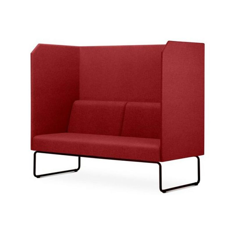 Sofa-Privativo-Pix-com-Divisoria-e-Assento-Mescla-Vermelho-Base-Aco-Preto---55087