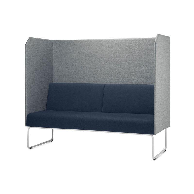 Sofa-Privativo-Pix-com-Divisoria-Courino-Cinza-Claro-e-Assento-Courino-Azul-Base-Aco-Branco---55090-