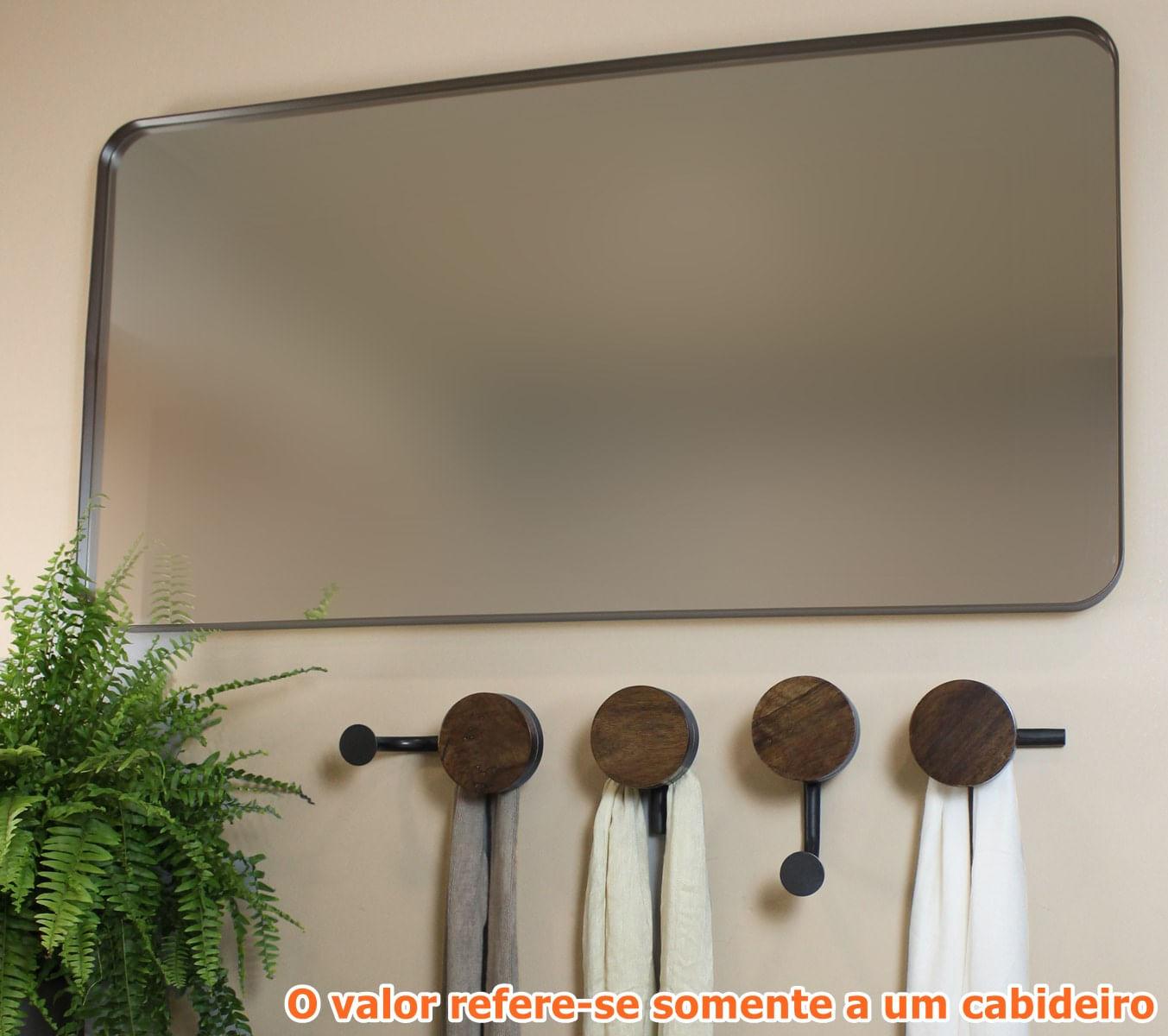 Cabideiro Brownie em Eucalipto Natural com 2 Suportes - 55076