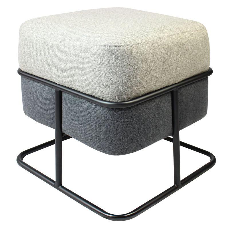 Puff-Quadrado-Young-Cashmere-Castor-e-Grafite-com-Base-Preta---55175