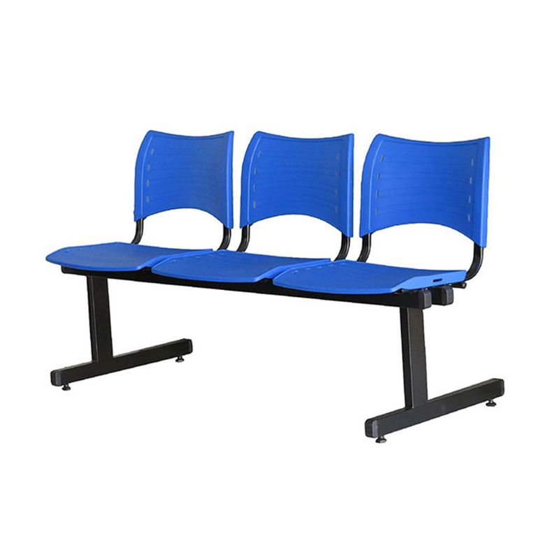 Longarina-Iso-com-3-Lugares-Assento-Azul-Base-Preta---55246-