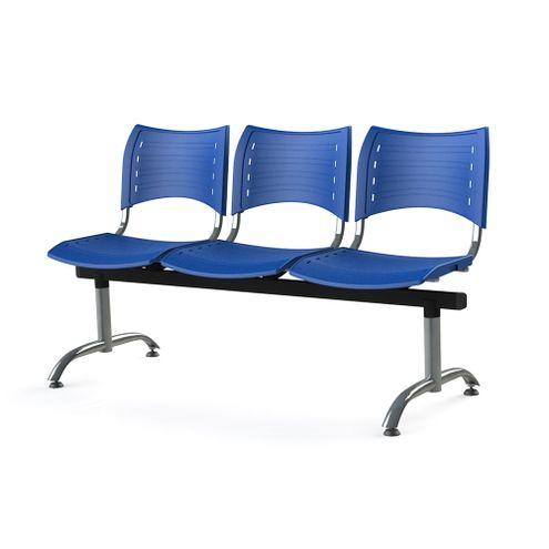 Longarina-Iso-com-3-Lugares-Assento-Azul-Base-Cromada---55247
