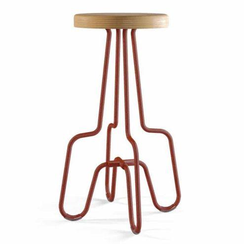 Banqueta-Alta-Catraca-Assento-em-Madeira-Base-Aco-Vermelha-725-cm--ALT----55198