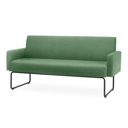 Sofa-Pix-com-Bracos-Assento-Crepe-Verde-Escuro-Base-Aco-Preto---55100