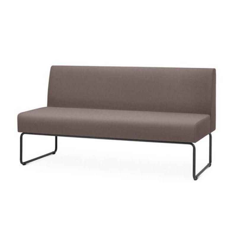 Sofa-Pix-Assento-Courino-Cinza-Escuro-Base-Aco-Preto---55117