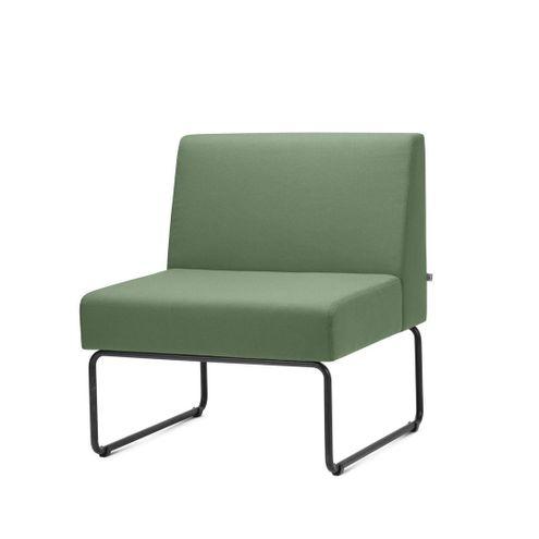 Poltrona-Modular-Pix-Assento-Crepe-Verde-Escuro-Base-Aco-Preto---55297