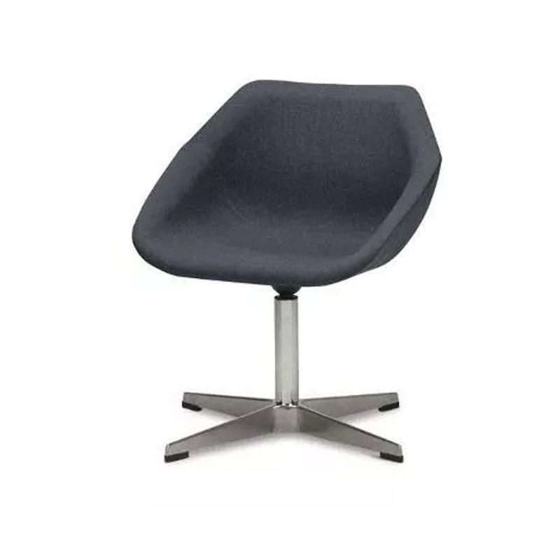 Poltrona-Giratoria-Neo-Assento-Quaker-Cinza-Escuro-Base-Fixa-Cromada---55399