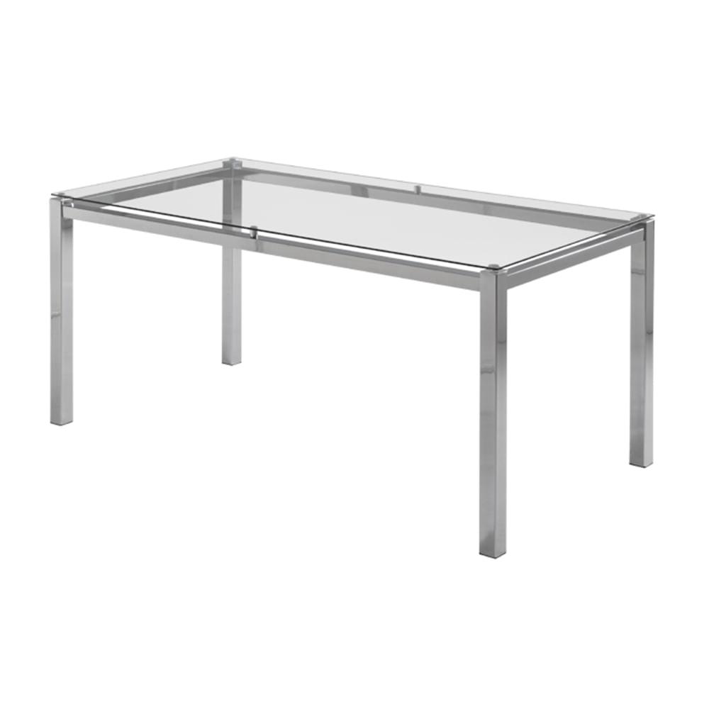 Mesa de Jantar Flex com Tampo de Vidro Base Cromada 1,20 MT (LARG) - 55647