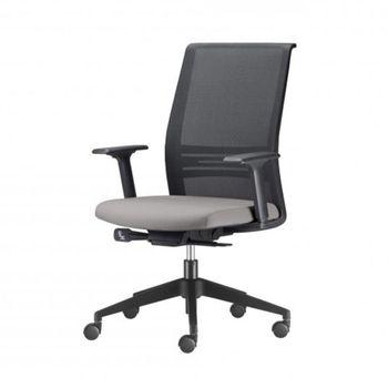 Cadeira-Agile-Presidente-Assento-Courino-Cinza-Claro-Base-Nylon-Piramidal-e-Rodizio-em-Nylon---55688