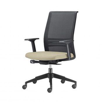 Cadeira-Agile-Presidente-Assento-Crepe-Bege-Base-Nylon-Piramidal-e-Rodizio-em-Nylon---55685