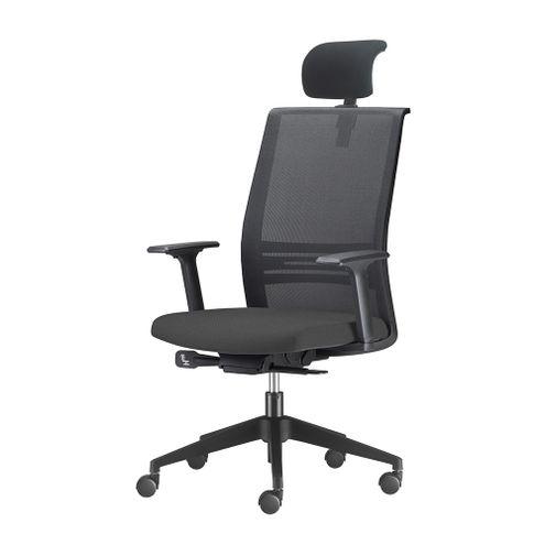 Cadeira-Agile-Presidente-com-Encosto-de-Cabeca-Assento-Crepe-Preto-Base-Nylon-Piramidal-e-Rodizio-em-Nylon---55695