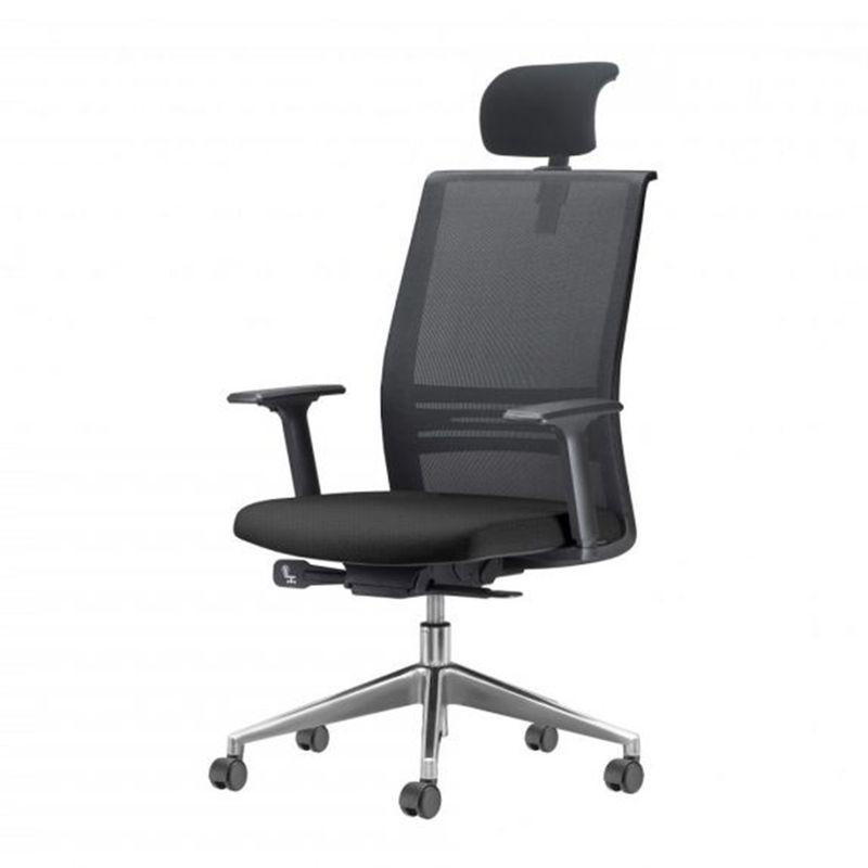 Cadeira-Agile-Presidente-com-Encosto-de-Cabeca-Assento-Crepe-Preto-Base-Aluminio-Piramidal-e-Rodizio-em-PU---55710