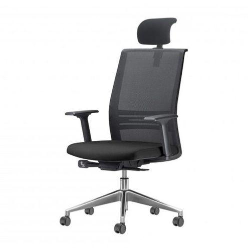 Cadeira-Agile-Presidente-com-Encosto-de-Cabeca-Assento-Courino-Preto-Base-Aluminio-Piramidal-e-Rodizio-em-PU---55711