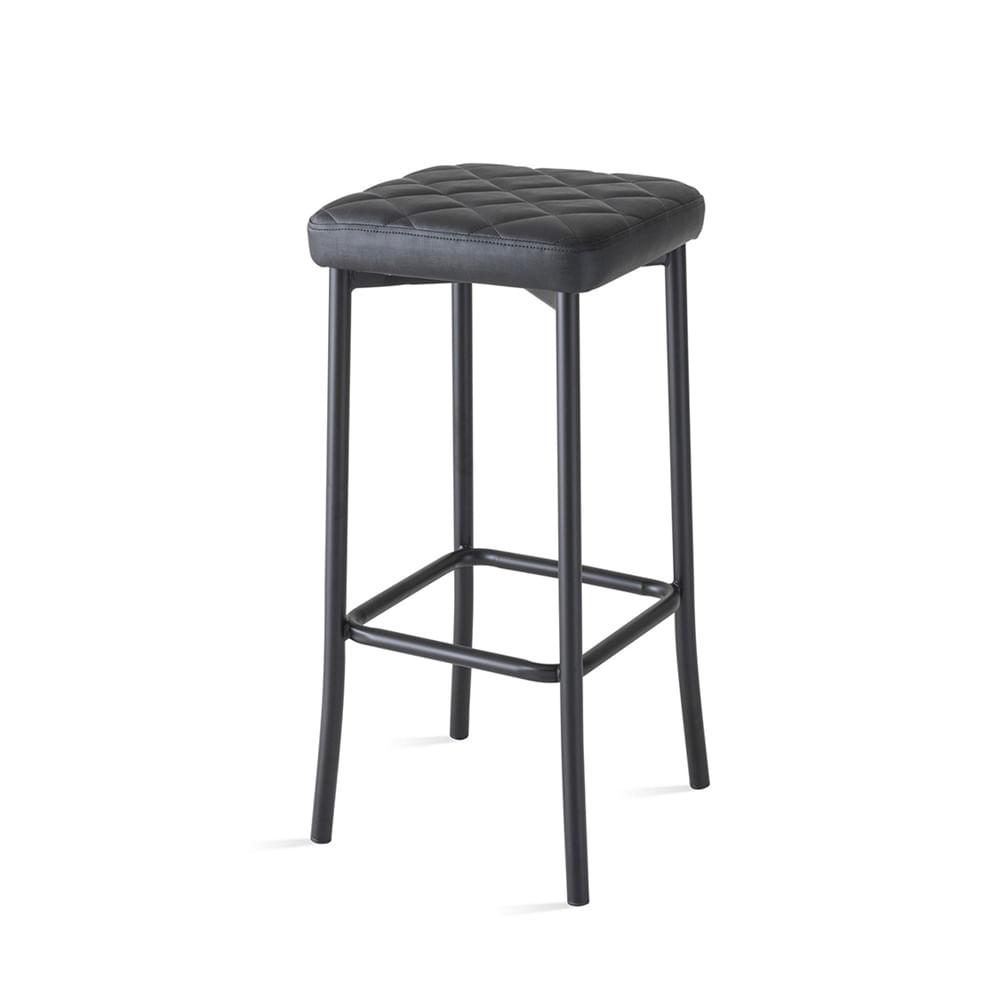 Banqueta Seat Assento Xadrez Preta 56 cm (ALT) - 55832