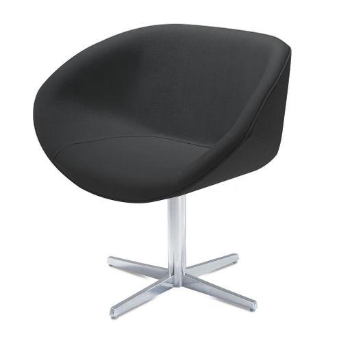 Poltrona-Smile-Assento-Estofado-em-Courino-Preto-Base-Fixa-em-Aluminio---55842