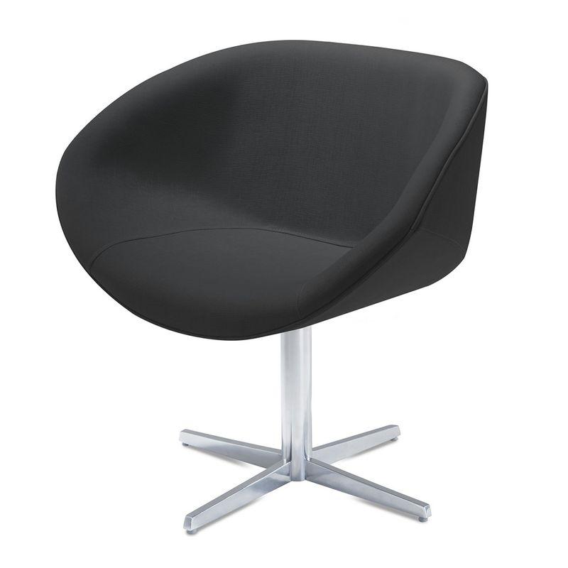 Poltrona-Smile-Assento-Estofado-em-Linho-Preto-Base-Fixa-em-Aluminio---55843