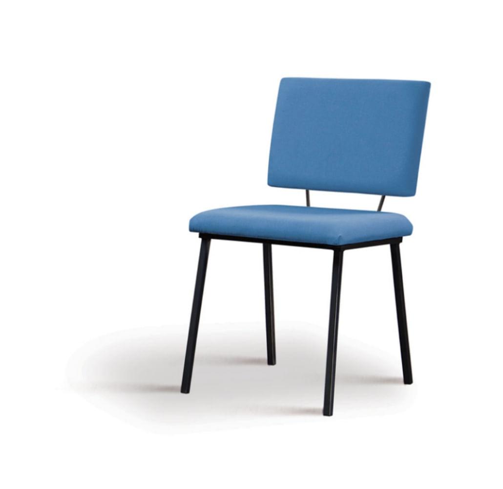 Cadeira Preciosa Azul Base Preta - 55852