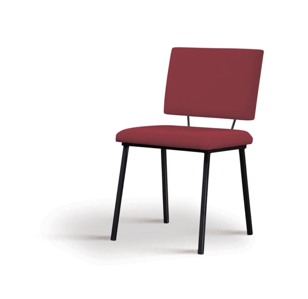 Cadeira Preciosa Marsala Base Preta - 55855
