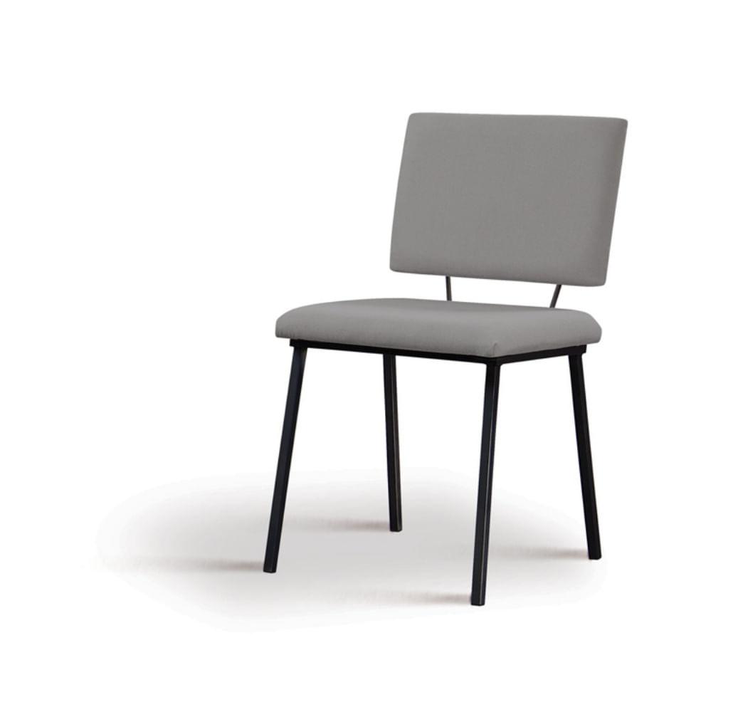 Cadeira Preciosa Cinza Base Preta - 55857