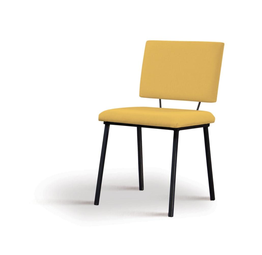 Cadeira Preciosa Amarela Base Preta - 55858
