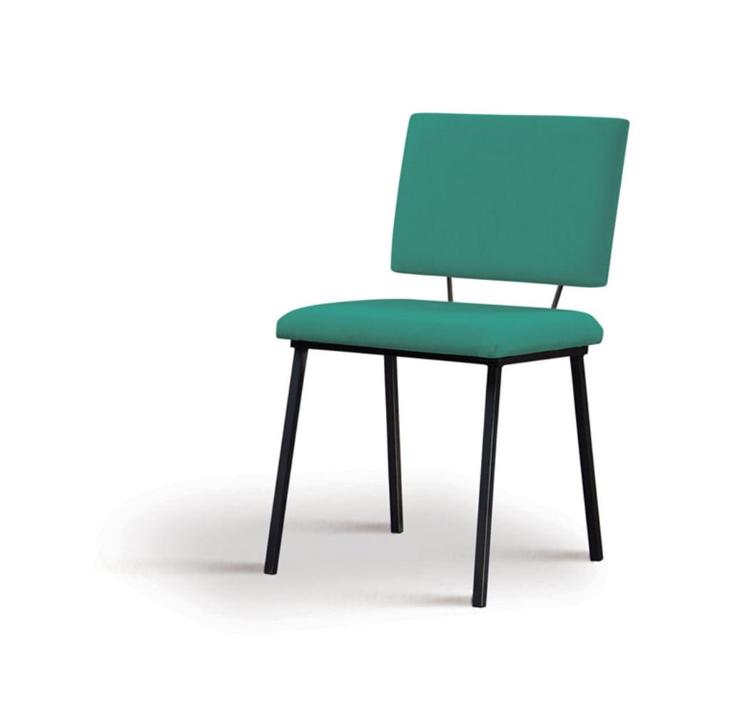 Cadeira Preciosa Verde Base Preta - 55859