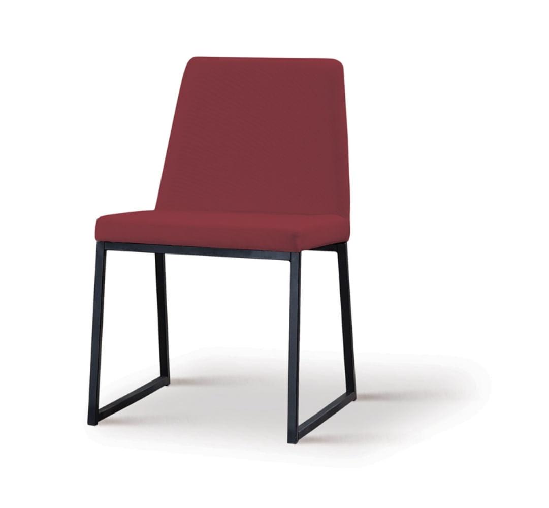 Cadeira Graty Marsala Base Preta - 55862