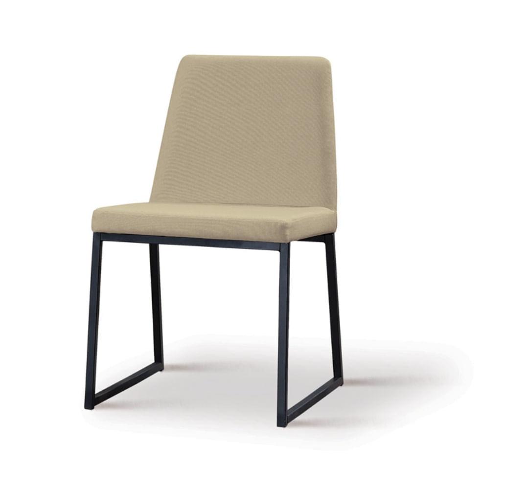 Cadeira Graty Bege Base Preta - 55865