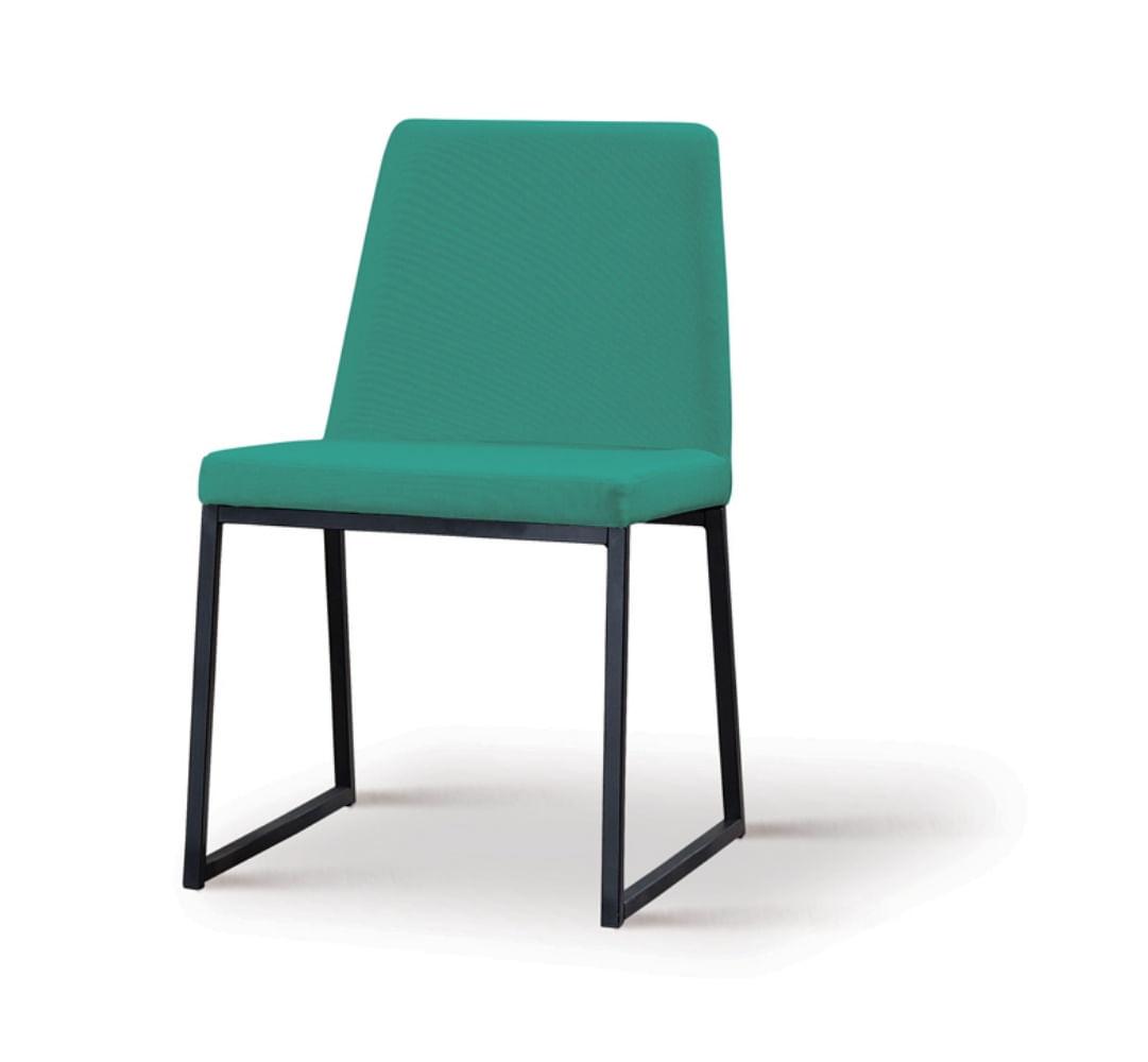 Cadeira Graty Verde Base Preta - 55866