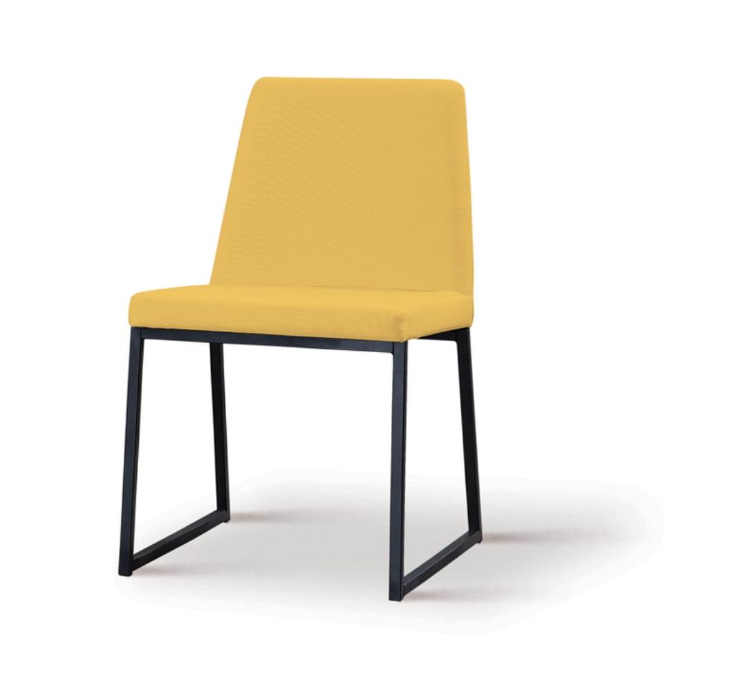 Cadeira Graty Amarela Base Preta - 55867