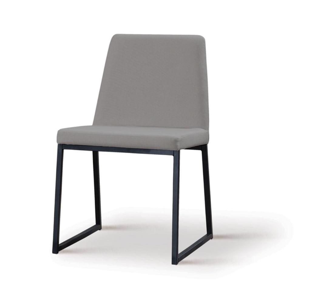 Cadeira Graty Cinza Base Preta - 55864