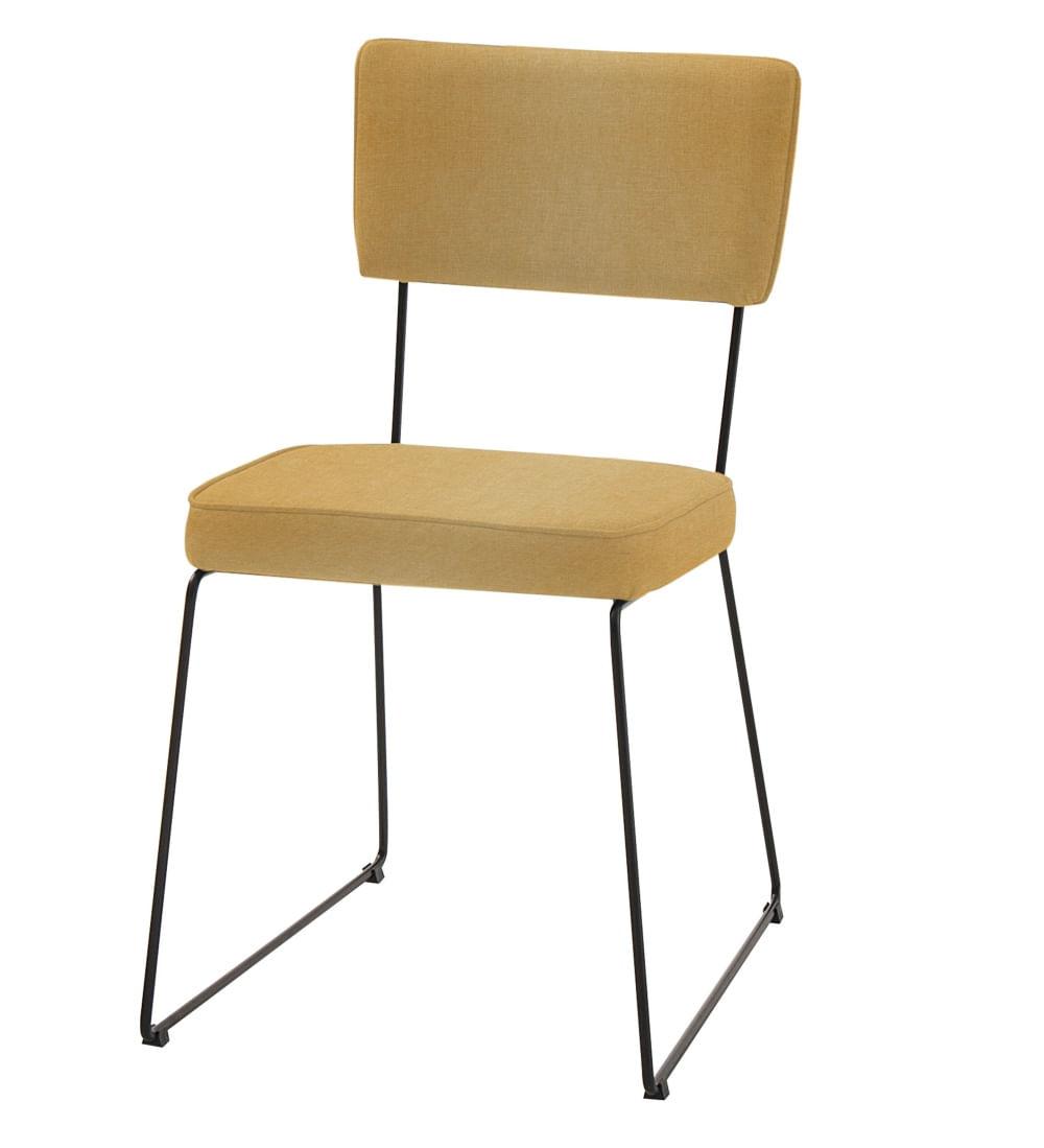 Cadeira Milan Mostarda Base Preta - 55888
