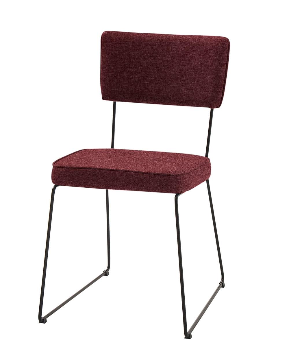 Cadeira Milan Vermelha Base Preta - 55889